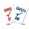 Inspection Stickers, Safety/Smog