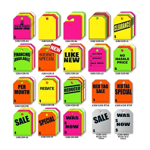 Rearview Mirror Pricing Tags