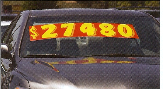 3-D Shaded Windshield Numbers, 11 1/2