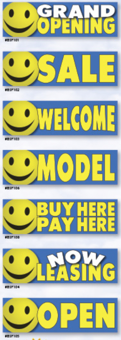 Smiley Banners 4'x15'