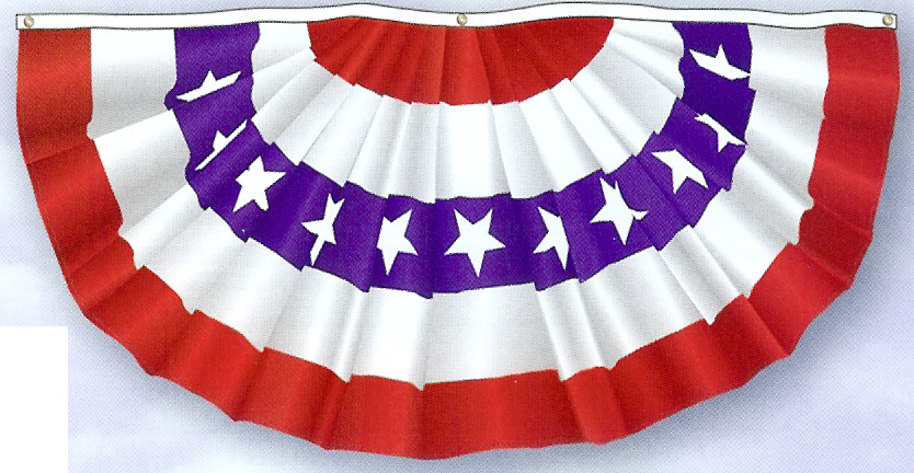 Patriotic Traditional Pleated Fans