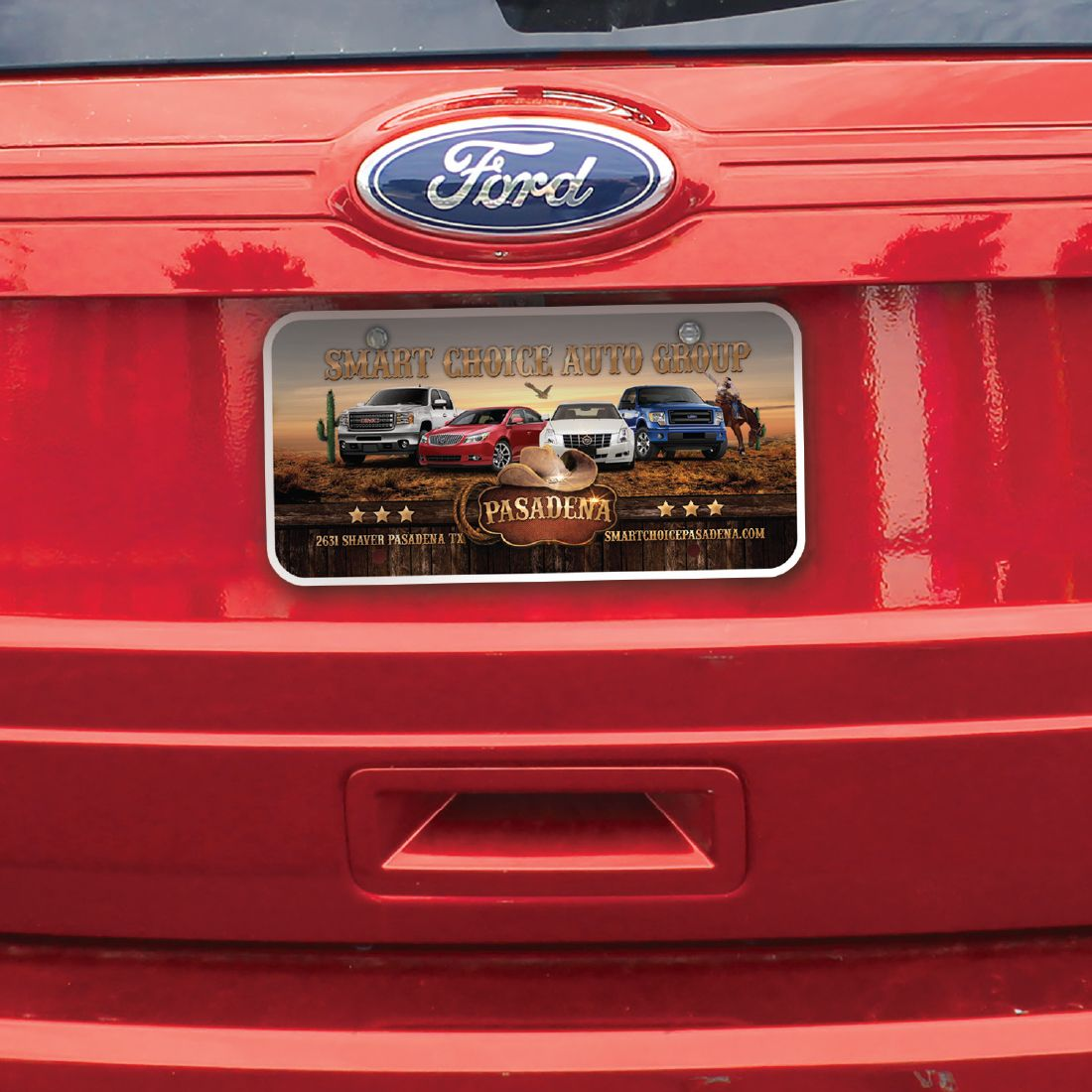 Dealer License Plate Plate Inserts, Full Color Digital Process
