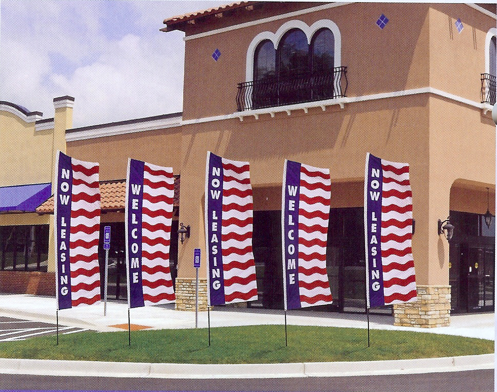 Patriotic Big Kahuna Message Flags, 13'