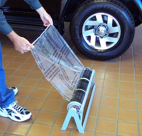 Floor Mat Dispenser Rack