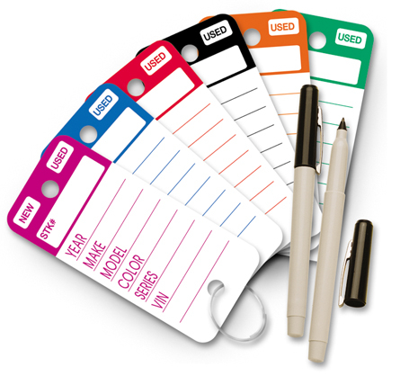 Top Stripe Key Tags by Versa Tags Inc.