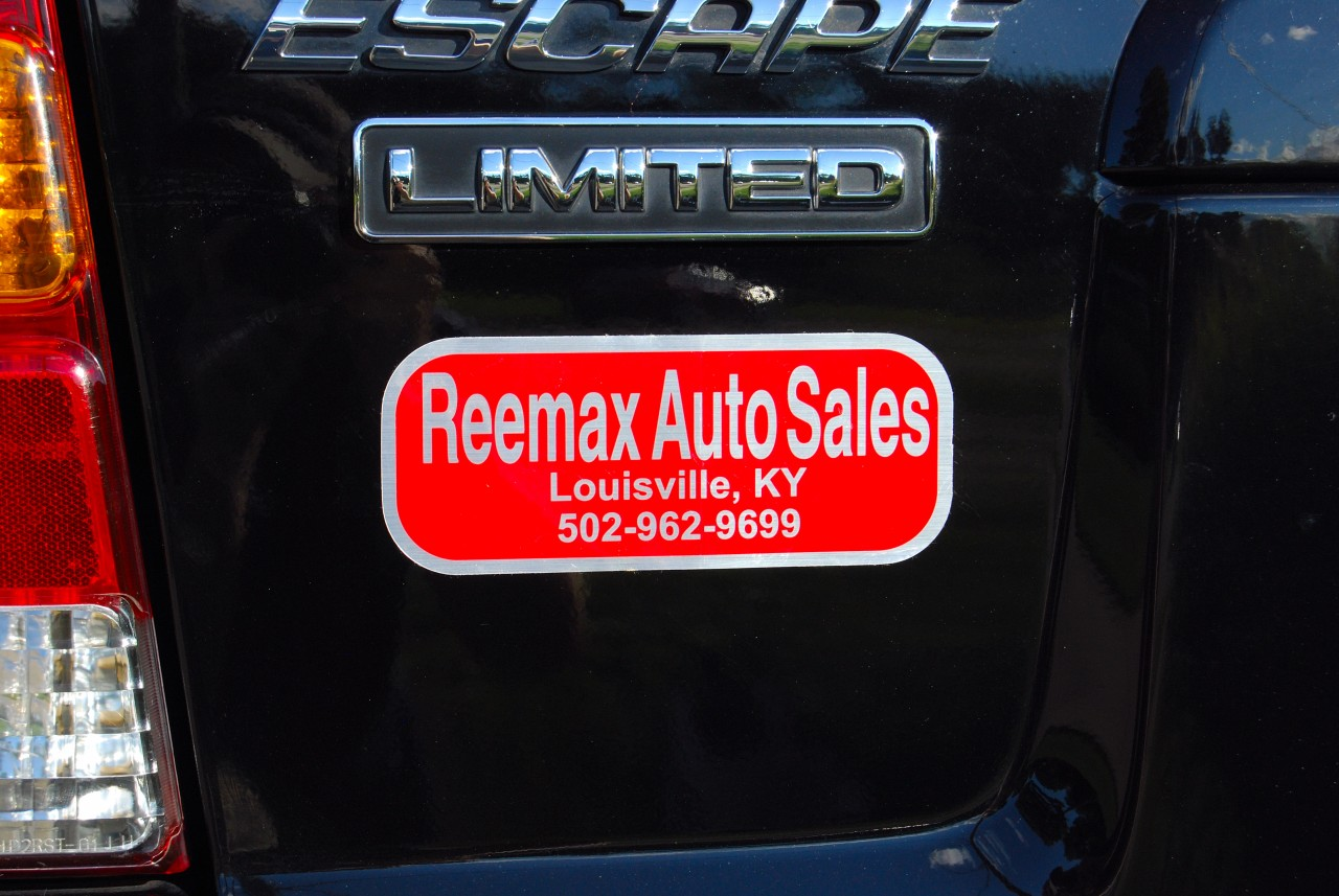 Dealer Name Decals, Brushed Chrome Polyester