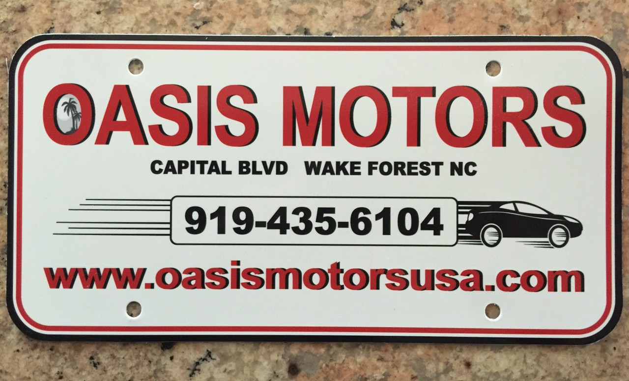 Dealer License Plate Inserts (2 colors)