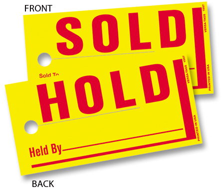 Sold Hold Tags, Jumbo