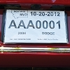 Temporary License Plate Holder, Economy