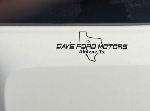Dealer Name Decals, Die Cut Vinyl