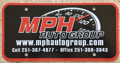 Dealer License Plate Inserts, .20 Mil. Full Color Printing