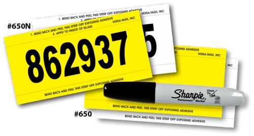 Stock Number Mini Signs, Printed