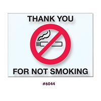 No Smoking Sticker Static Cling