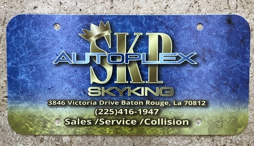 Dealer License Plate Inserts, .35 Mil. Full Color Printing