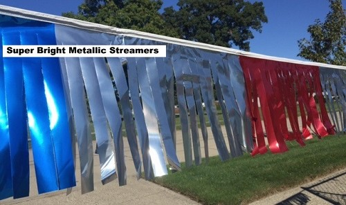 Metallic Streamers 100' Strings