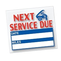 Generic Service Reminder Stickers