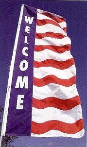 Wave Vertical Message Flags 3'x8'