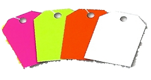 Rearview Mirror Pricing Tags, Blank