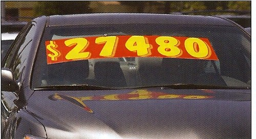 "11 1/2"" Red and Yellow Windshield Numbers"