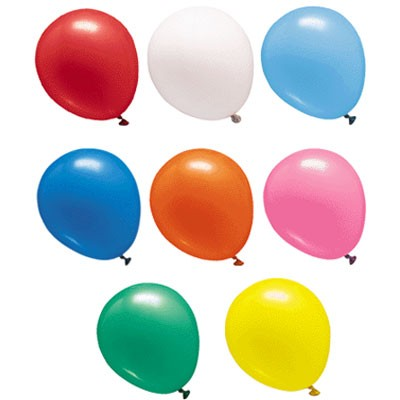"17"" latex balloons in colors Multi Colors."
