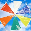 Jumbo Poly Pennants are sure to attract attention. 105'. Shown in Multi Colors.