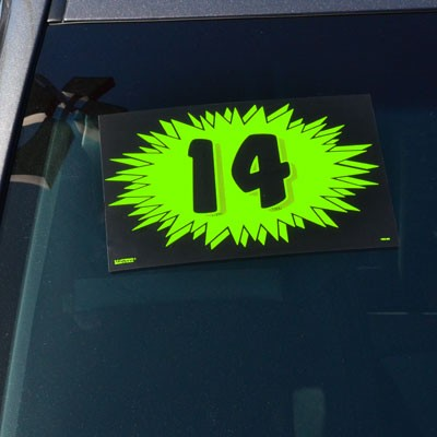 Burst 2 Digit Model Year Windshield Signs