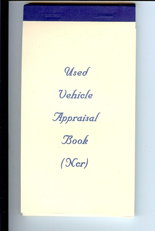 Used Vehicle Appraisal Book
