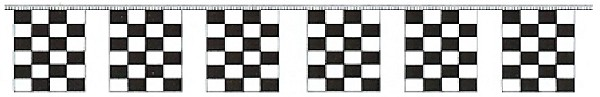 Checker Race Flag String 50'