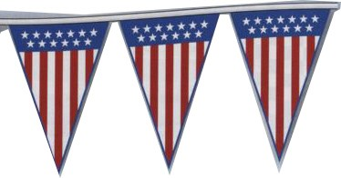 Patriotic Jumbo 4 mil. Poly Pennant Strings 105'