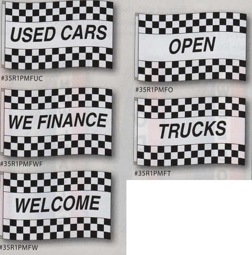Race Style Message Flags 3' x 5'