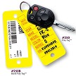 Poly Key Tags by Versa Tags Inc. 250 key tags and Rings per box, 1 Sharpie Marker Included.