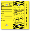The Genuine Original Self Laminating/Protecting Key Tag from Versa-Tags Inc. shown in yellow.