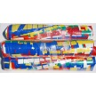 Fiesta Fringe Pennant Streamers 60 foot long. Lots of flutter and attention at an affordable price. Shown in Multi colors.