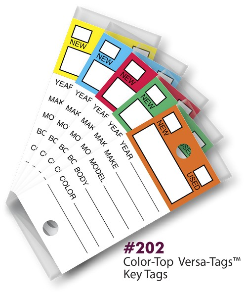 The Genuine Original Self Laminating/Protecting Key Tag from Versa-Tags Inc.