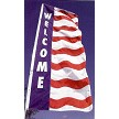 Bright Red, White & Blue color, stock messages and special materials make these Wave Vertical Flags a hit with car dealers, apartments, real estate and more!